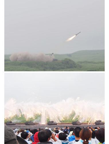 富士総合火力演習の様子
