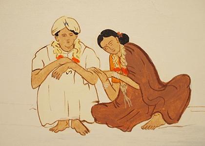 《集団結婚式》(部分)(2003)